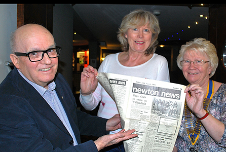 Syd with the Newton News, which he is the honorary editor of